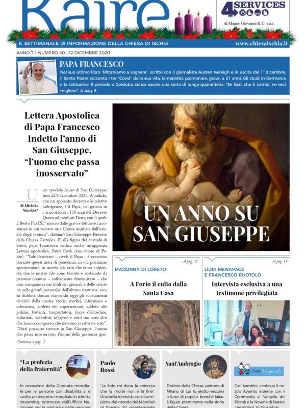 Anno 7 nr 50 12 dicembre 2020 – Un anno su San Giuseppe –
