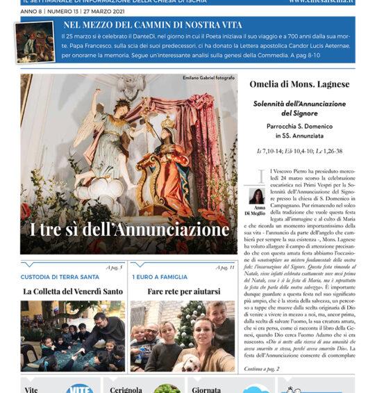N° 13, Anno 8 – Kaire – I tre sì dell'Annunciazione – 27 marzo 2021